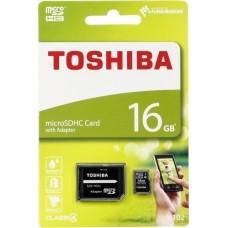 Κάρτα Μνήμης MicroSDHC Toshiba M102 16GB Class4 + Adaptor